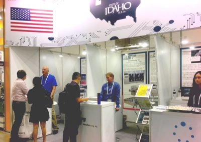 Idaho Trade booth in Taiwan